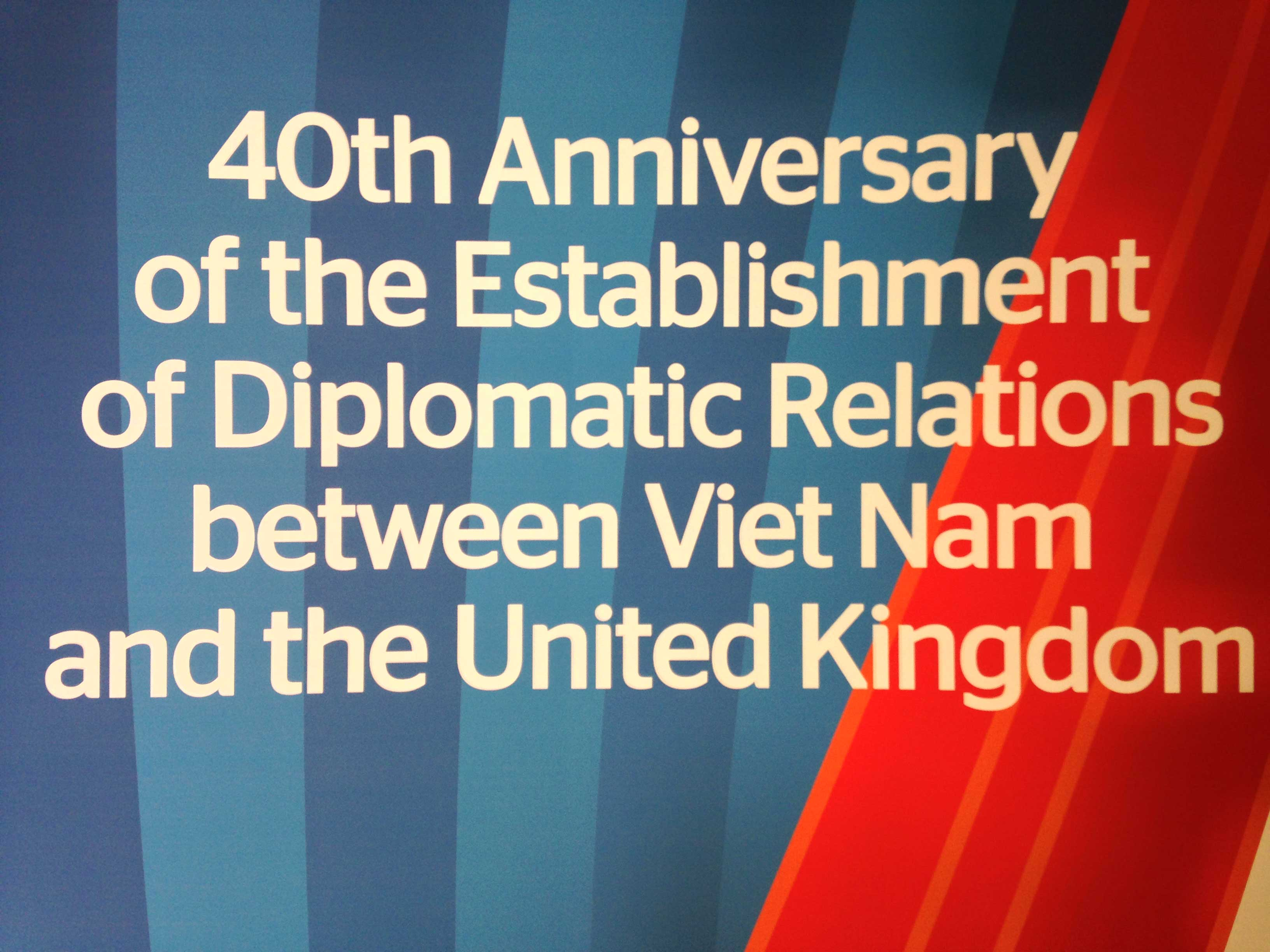 40th Anniversary of the establishment of diplomatic relationship between Viet Nam and the UK