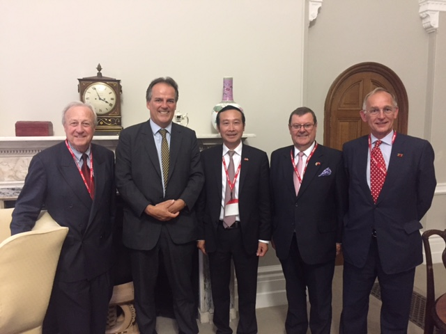 The Chairman, Vice Chairmen and Vietnam's Ambassador discuss the work of the VUKN with Mark Field MP, Minister for Asia at the FCO